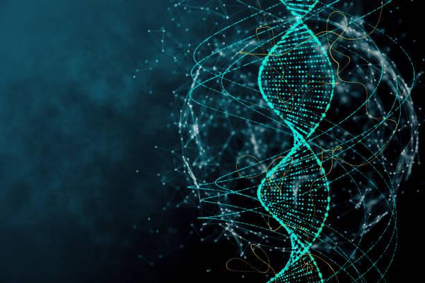 Blue DNA texture stock photo