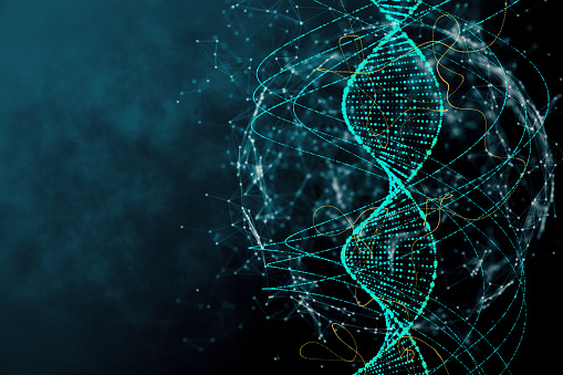 Blue Dna Texture Stock Photo - Download Image Now