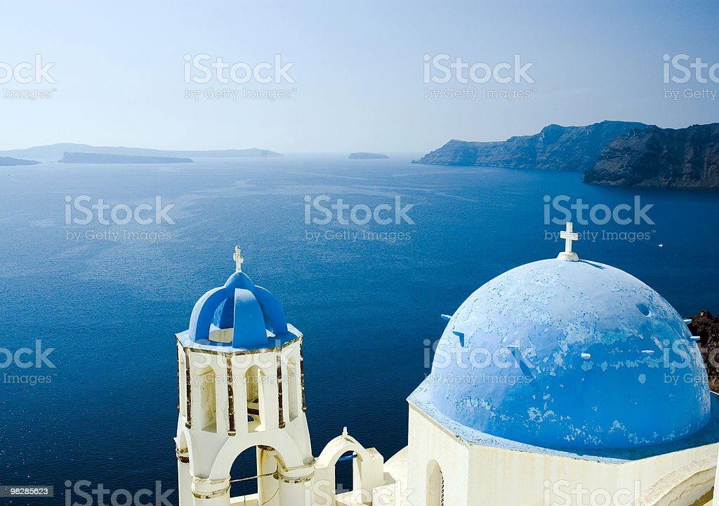 Blue dome church royalty-free stock photo