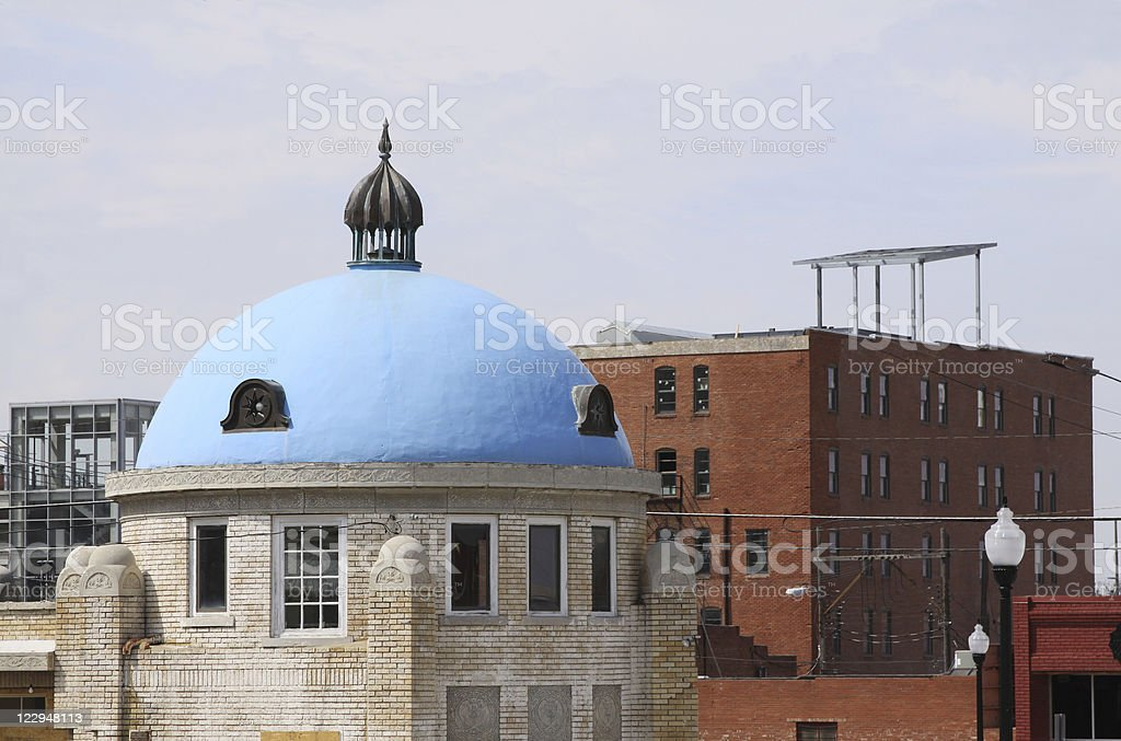 Blue Dome District, Tulsa, OK stock photo