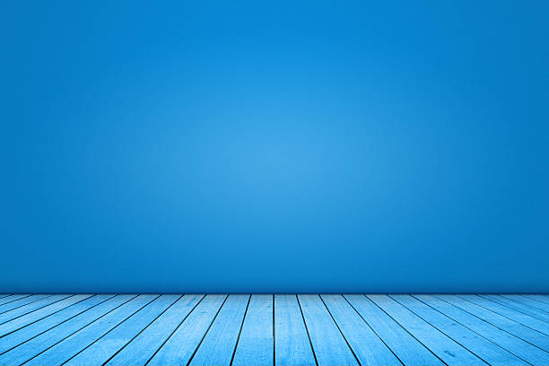 Blue domestic room background stock photo