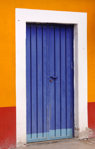 Blue Door Stock Photo - Download Image Now