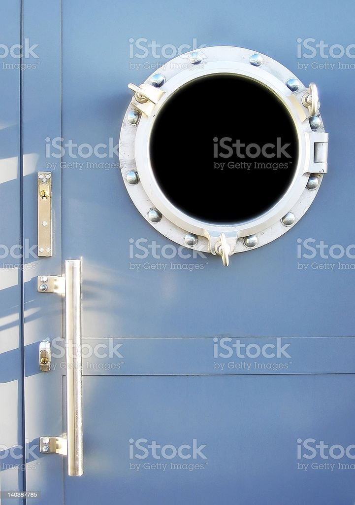 Blue door royalty-free stock photo