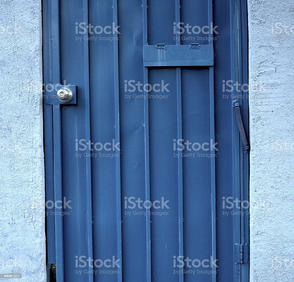 Blue Door royalty free stockfoto
