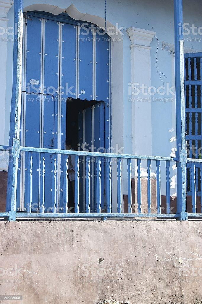 Blue Eingang Lizenzfreies stock-foto