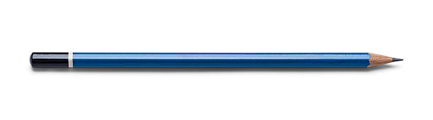 blue drawing pencil - pencil stock photos and pictures
