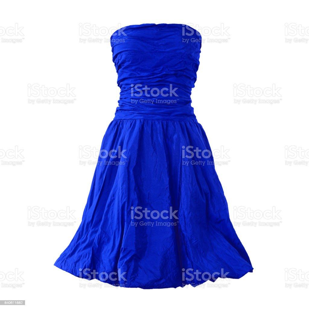 Vestido Azul Aislado Sobre Fondo Blanco Foto De Stock Y Más