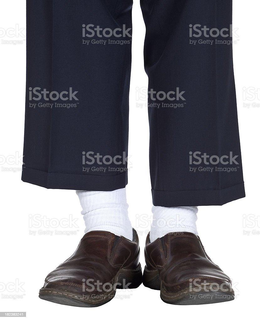 Robe bleu marron blanc or