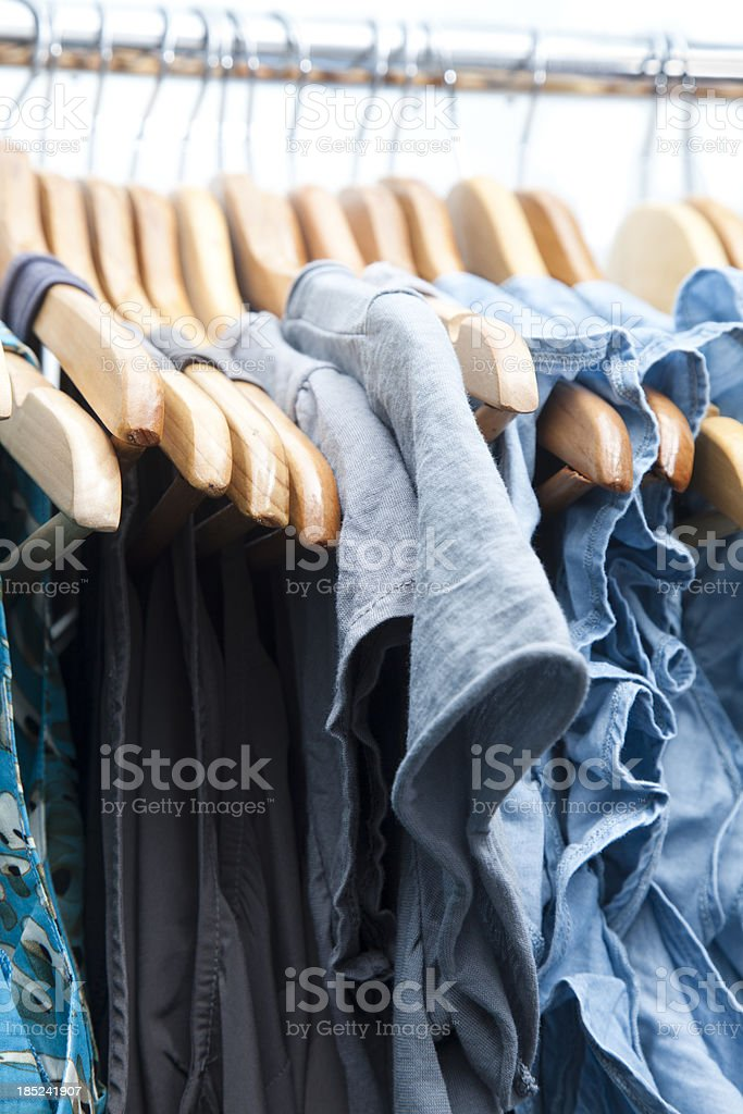Blue dresses royalty-free stock photo