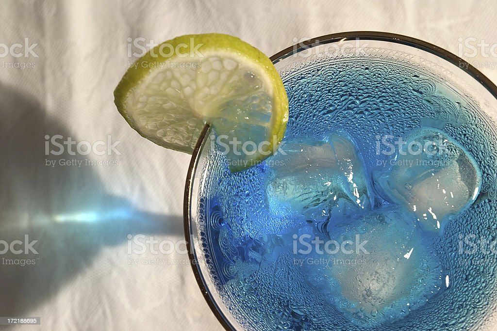Blue drink royalty-free stock photo