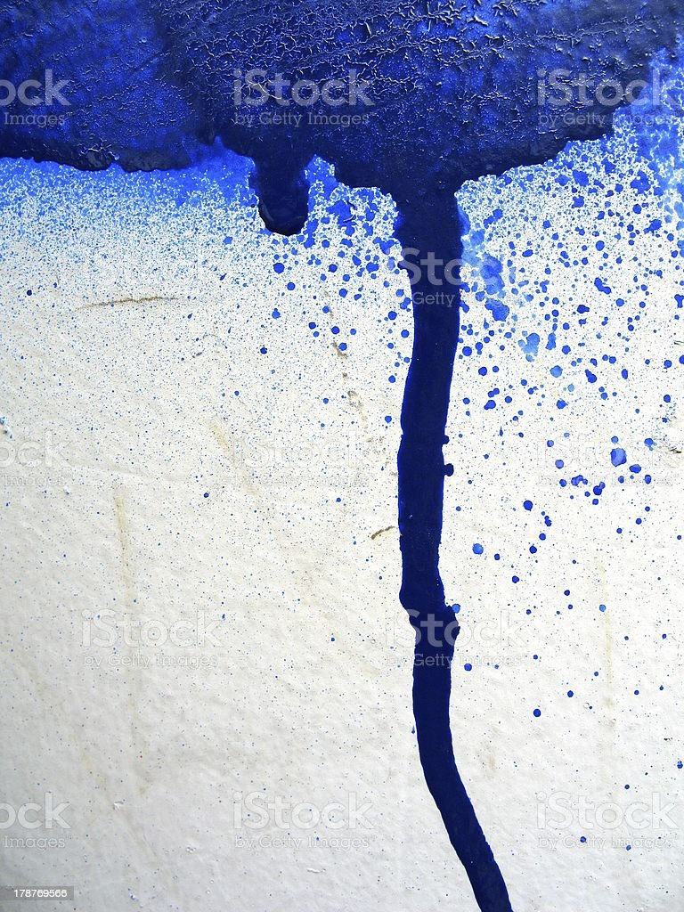 blue drip royalty-free stock photo