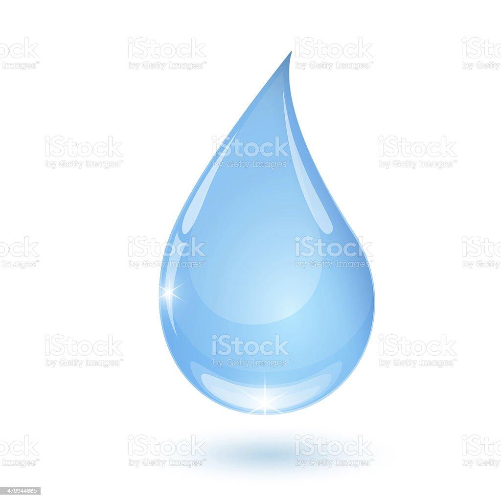 Blue drop towards 2 stock photo