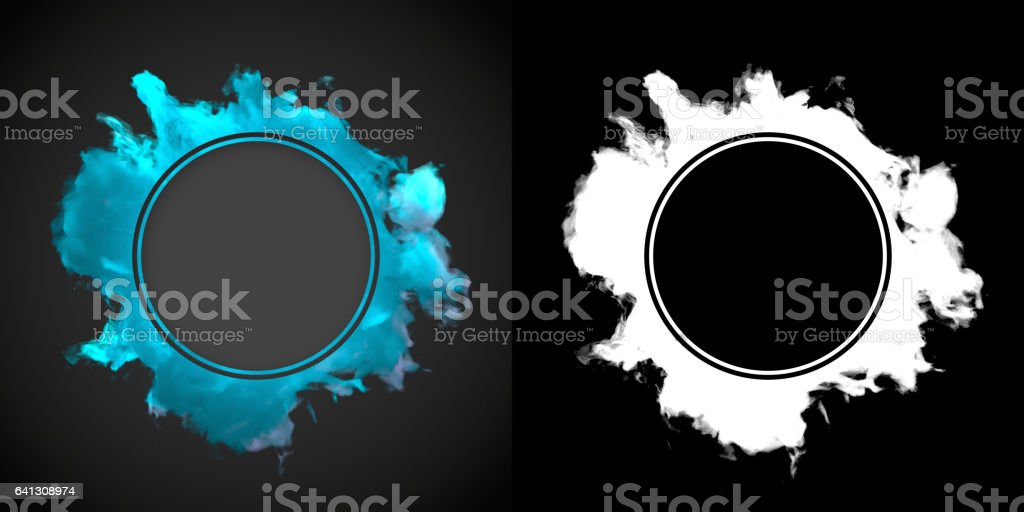 Blue dust wave on dark background 3d rendering stock photo