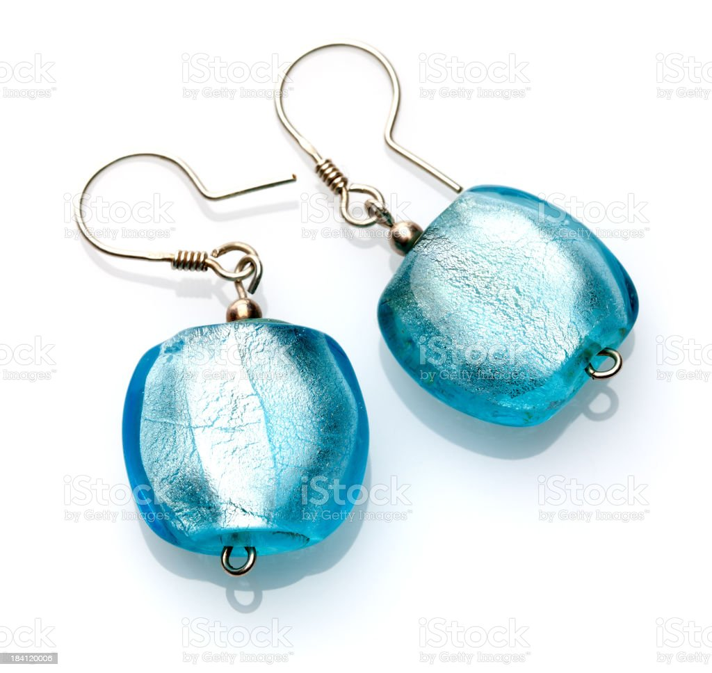 Blue Earrings royalty-free stock photo