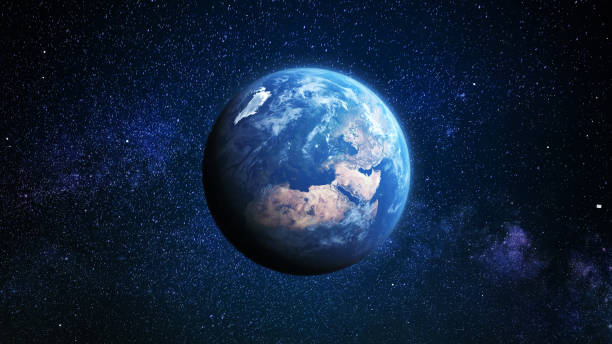 Blue Earth in the Sky 地球 planet earth stock pictures, royalty-free photos & images