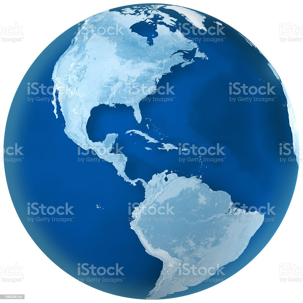 Blue Earth North and South America royalty-free stock photo