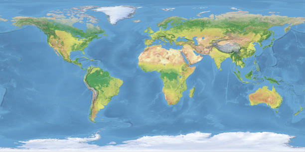 blue earth topographic map - topography stock photos and pictures