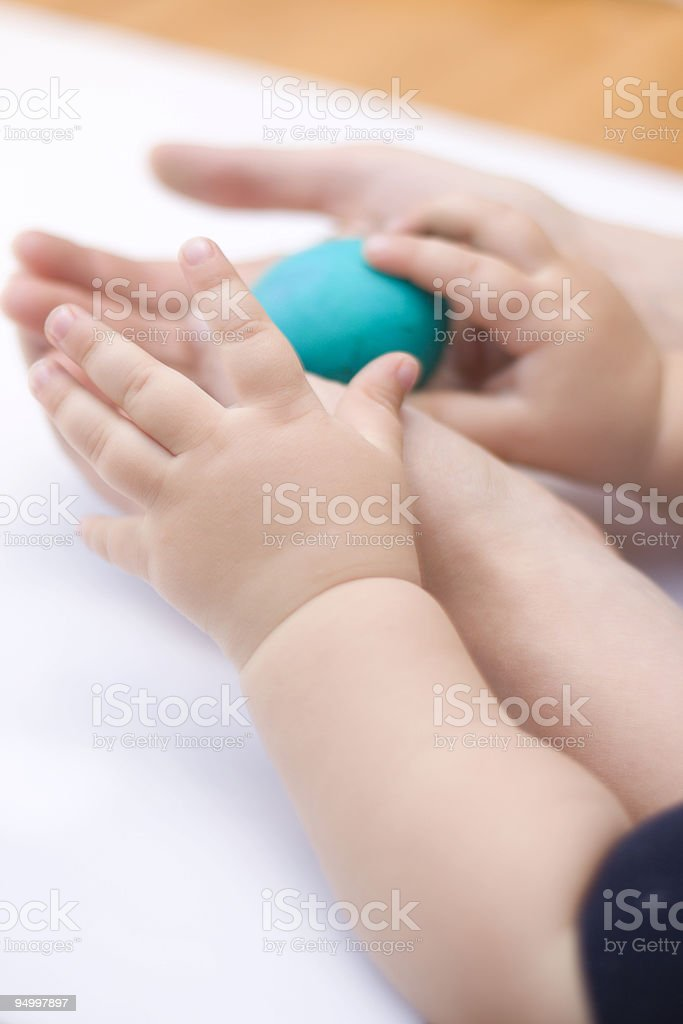 Blue Easter egg royalty-free stock photo