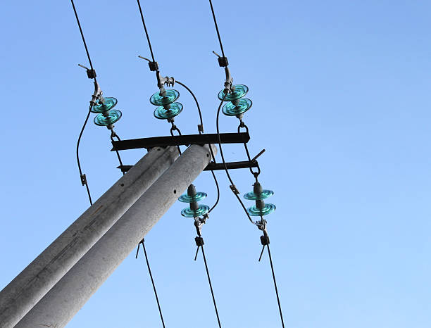 Blue electrical insulator (dielectric) stock photo