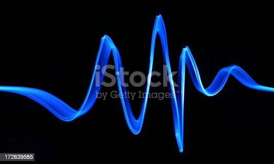 istock Blue Electron Wave 172639585