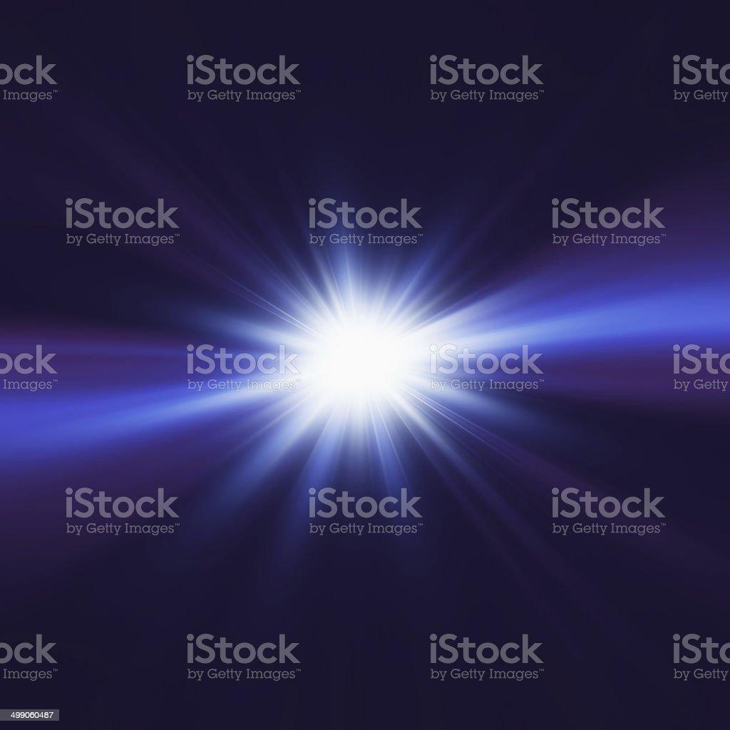 Blue elegant design with light burst in center stock photo