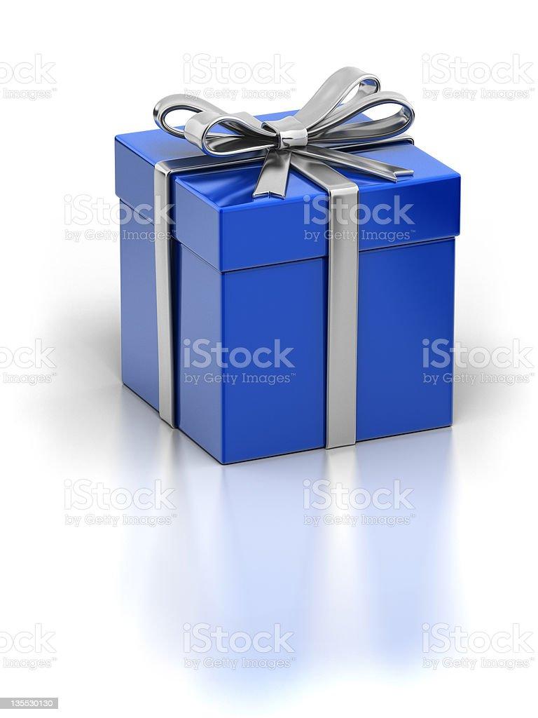 Blue Elegant Giftbox stock photo