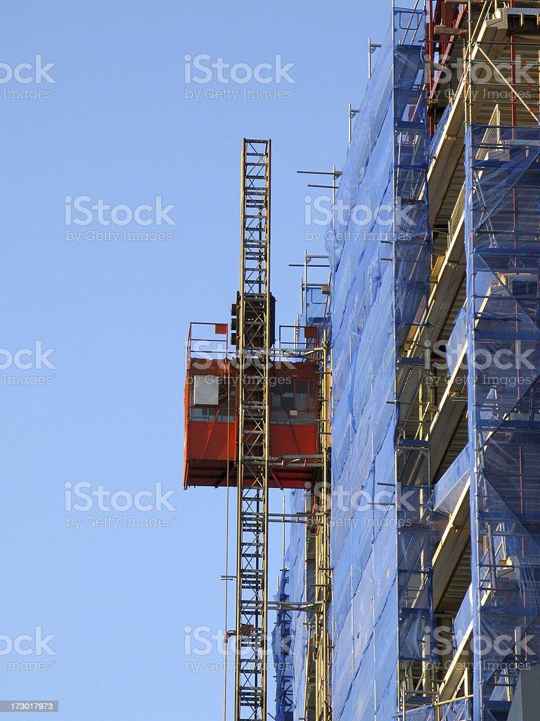 blue elevator royalty-free stock photo