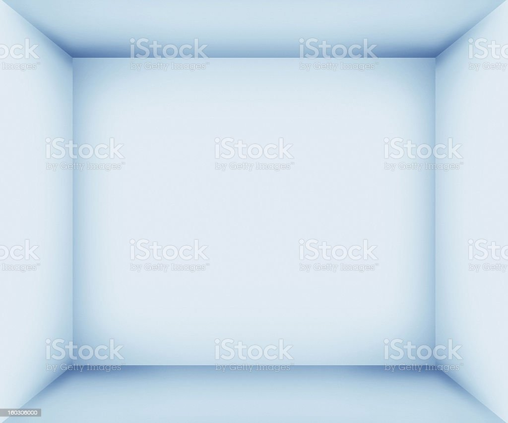 XXXL Blue empty room interior stock photo