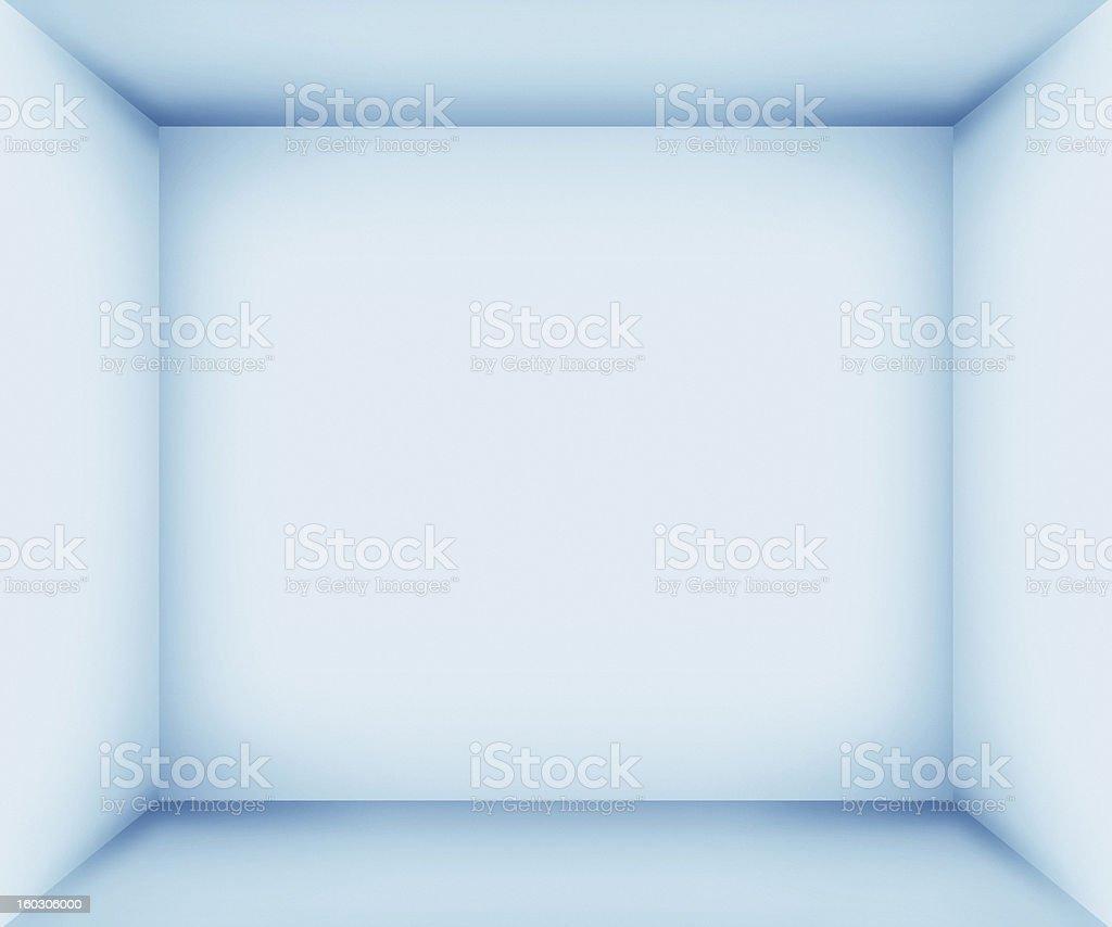 XXXL azul vacía interior de la habitación - foto de stock