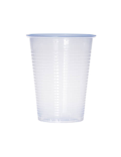 Blue empty transparent plastic cup isolated on white Blue empty transparent plastic cup isolated on white. Extremely high resolution photo. disposable cup stock pictures, royalty-free photos & images