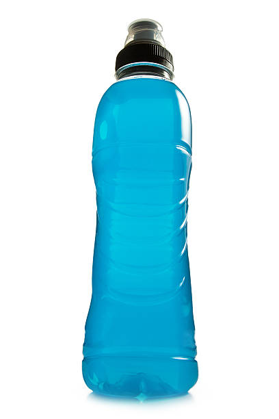 blue energy drink stock photo