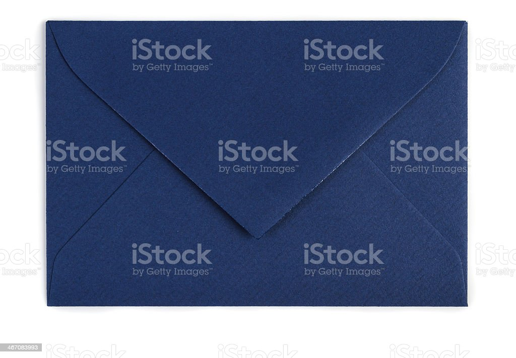 Blue envelope (Clipping path) stock photo