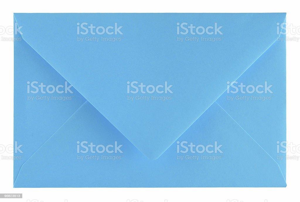 blue envelope royalty-free stock photo