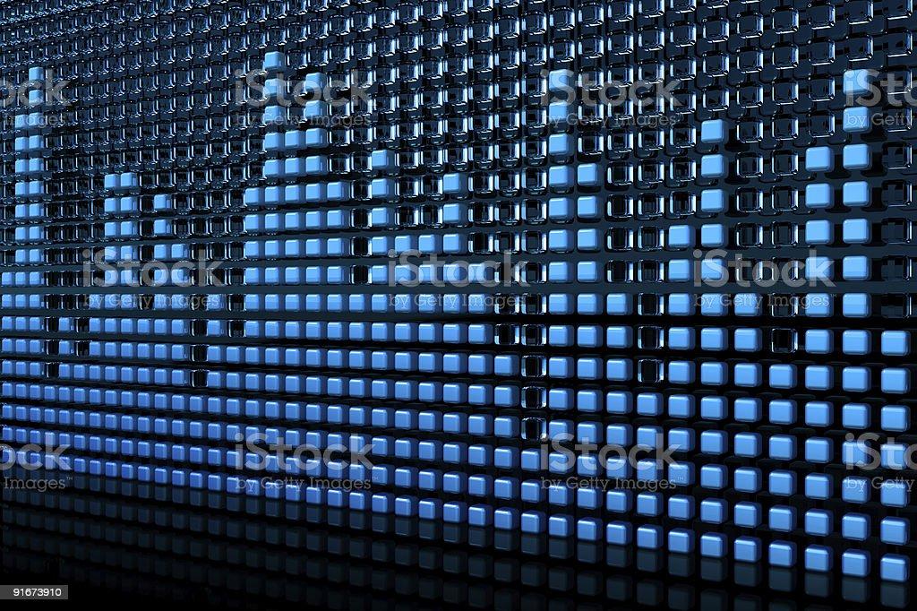Blue equalizer stock photo