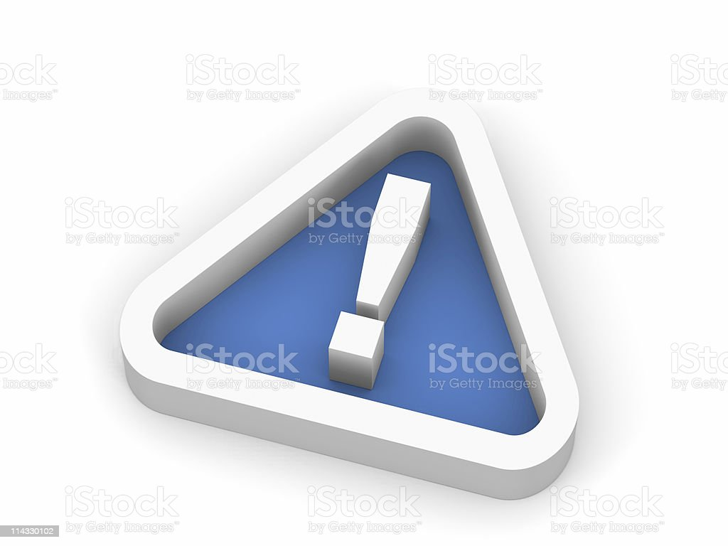 Blue Exclamation Point Symbol royalty-free stock photo