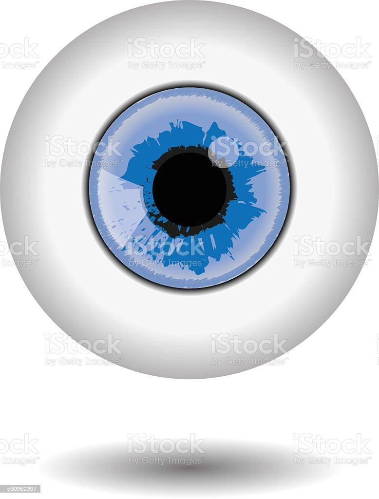blue eye illustration stock photo