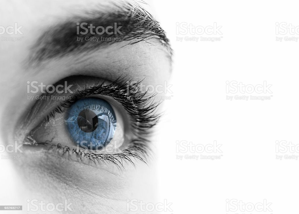 Blue eye royalty-free stock photo