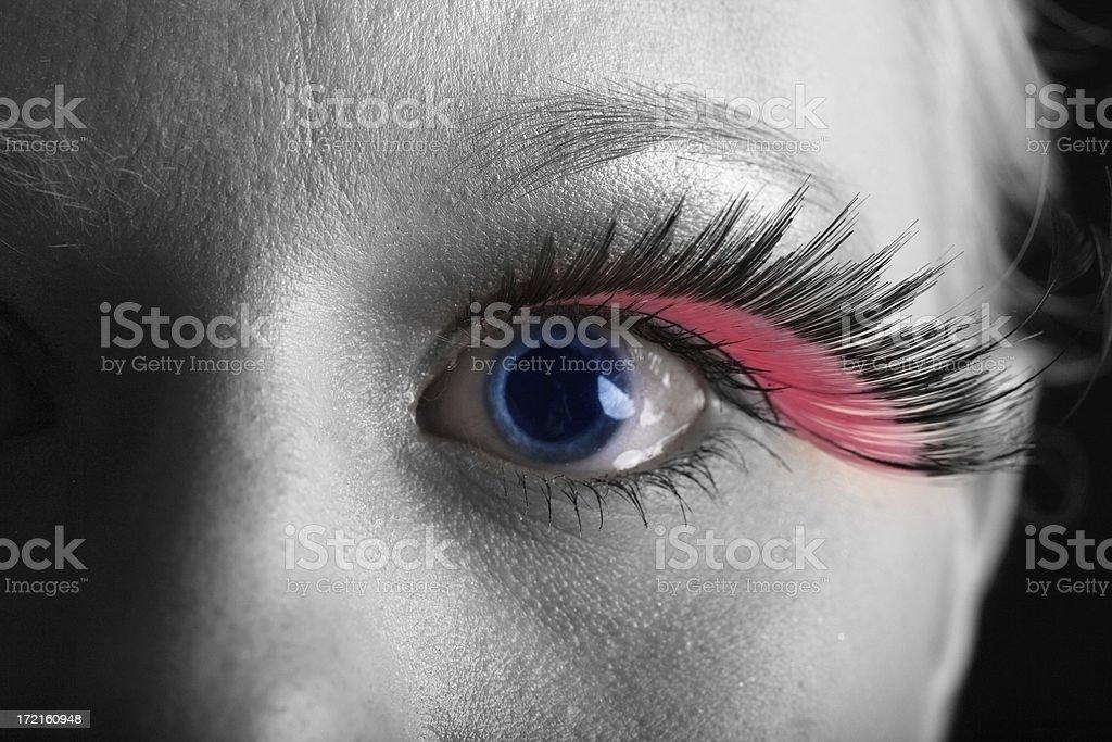 Blue eye, rosa pestaña. - foto de stock