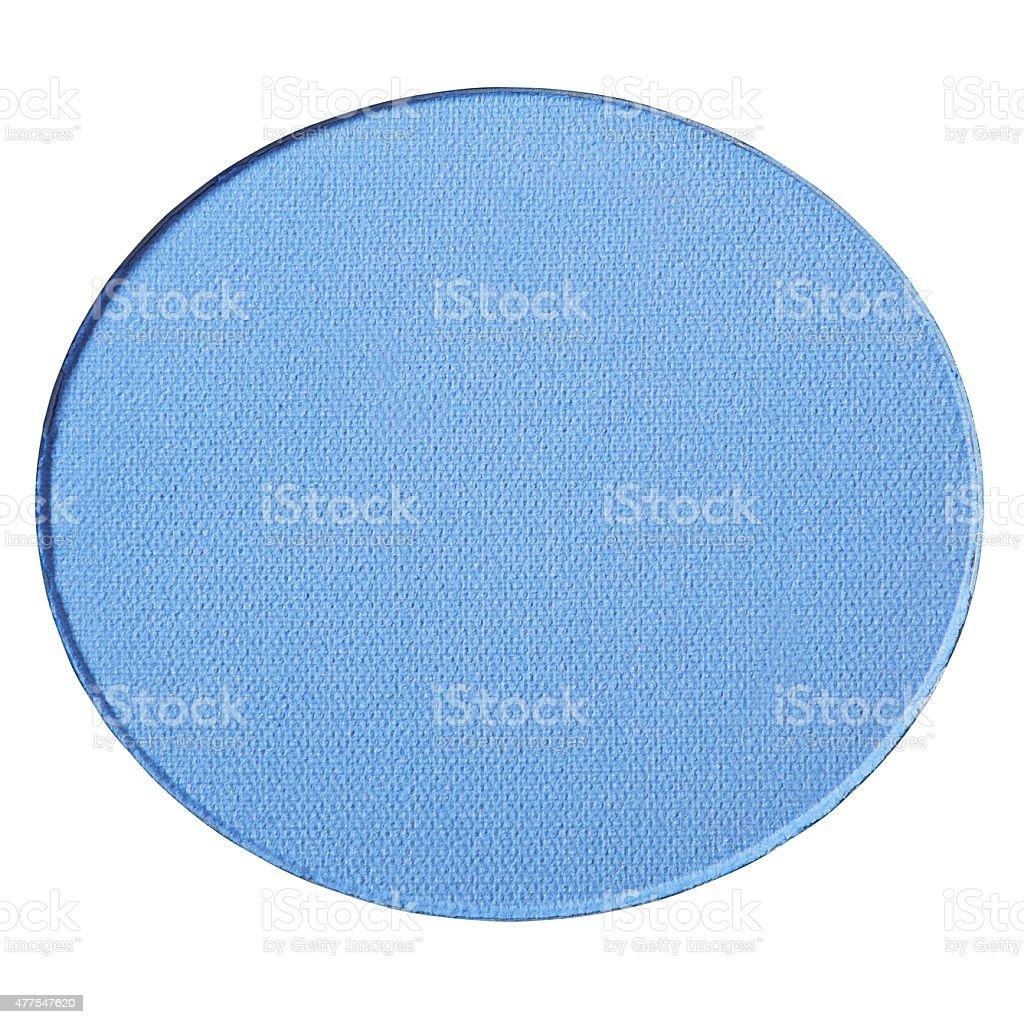 Blue eye shadow on white stock photo
