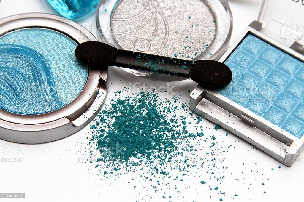 Blue Eye Shadow stock photo