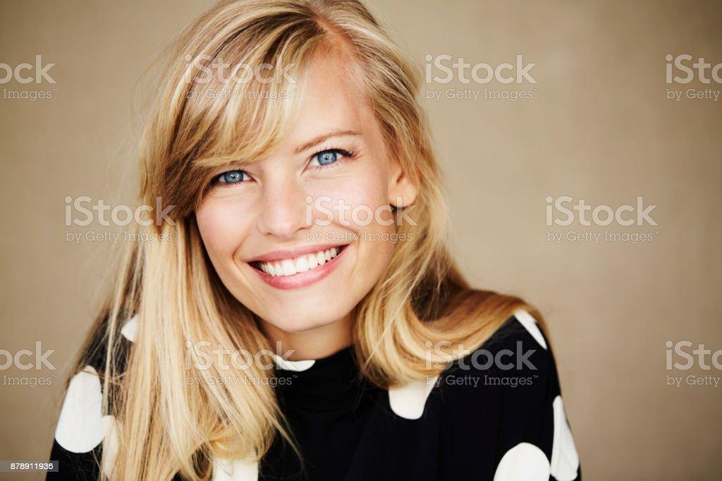 Blaue Augen und blonde – Foto
