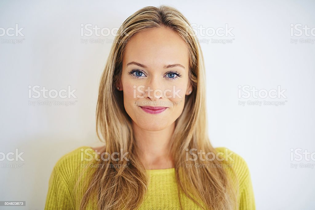 Blue eyed and breathtaking stock photo