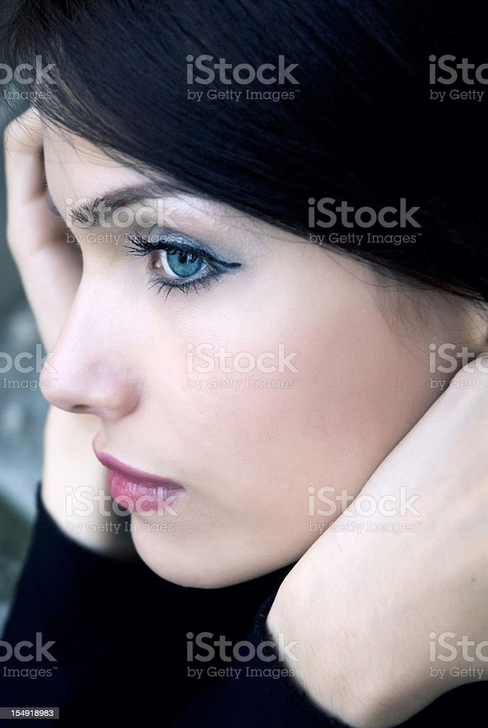 Blue eyed attractive female royalty-free stock photo