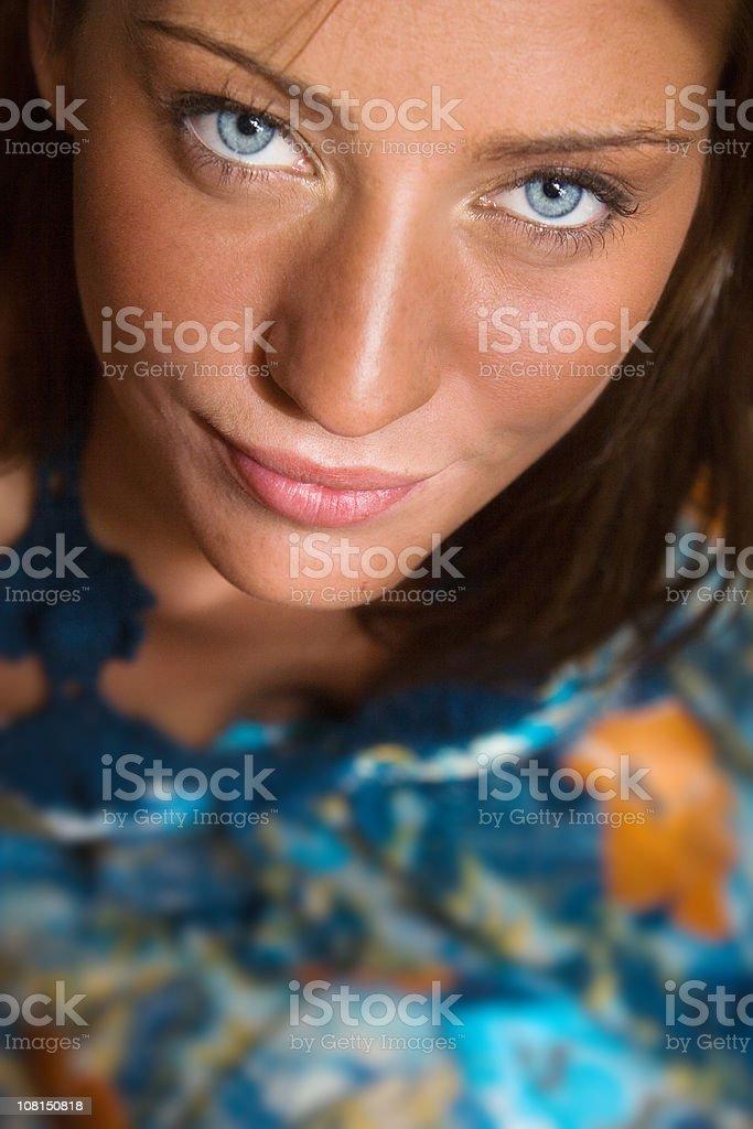 Blue eyed beauty royalty-free stock photo