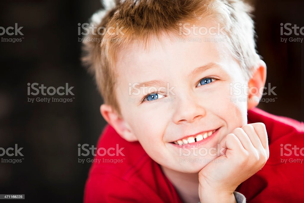 blue eyed happy boy royalty-free stock photo
