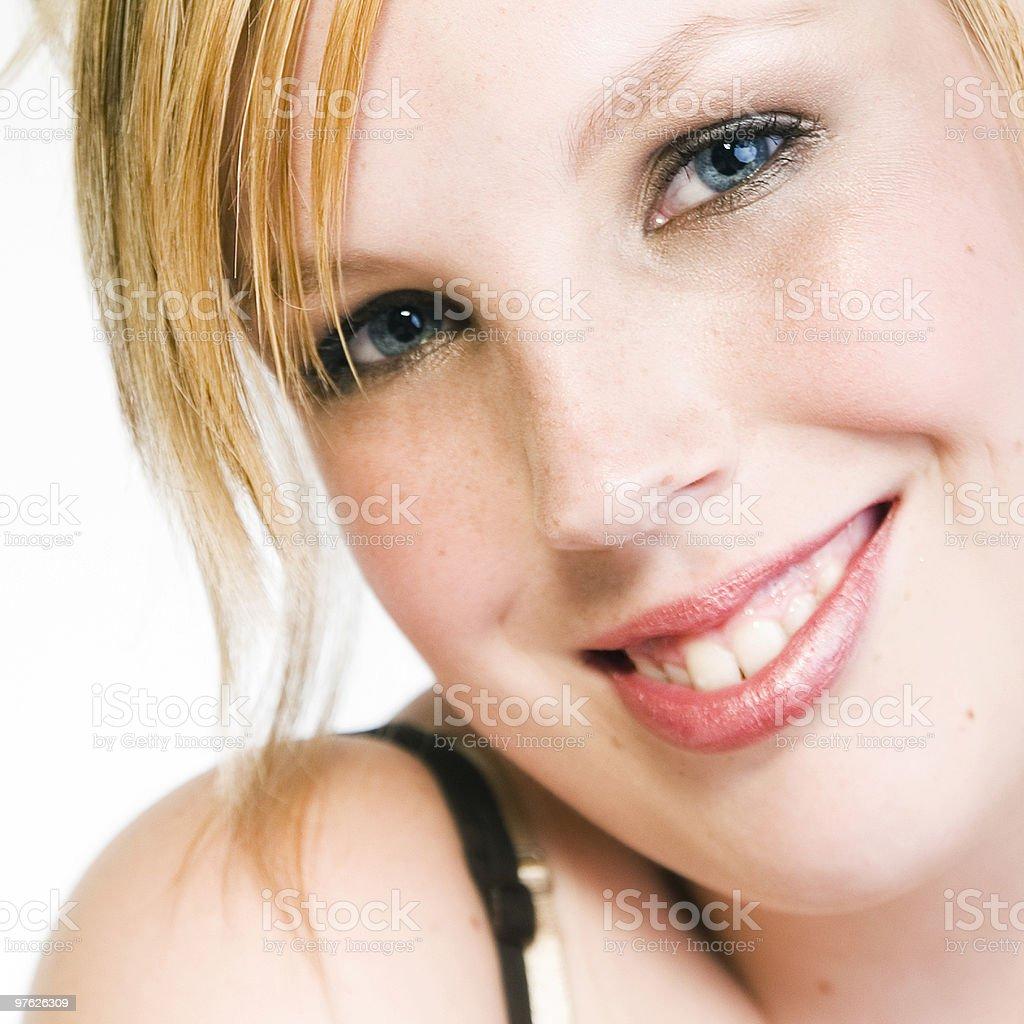 blue eyes and freckles royaltyfri bildbanksbilder