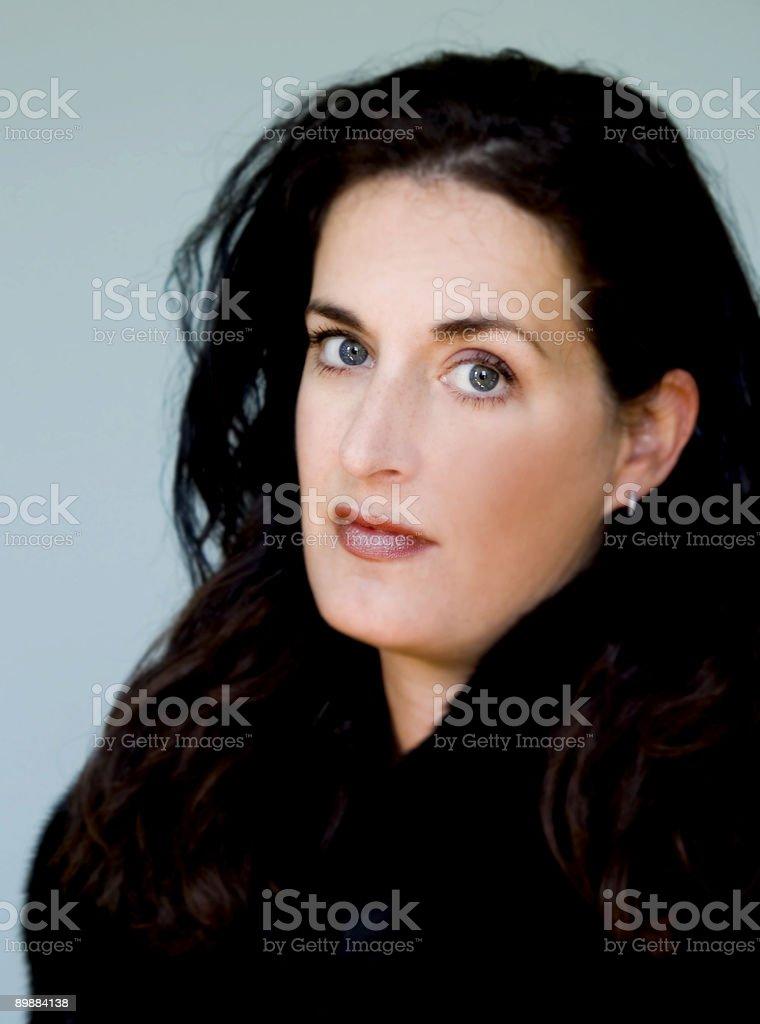 Blue Eyes, Dark Hair 2 royalty-free stock photo