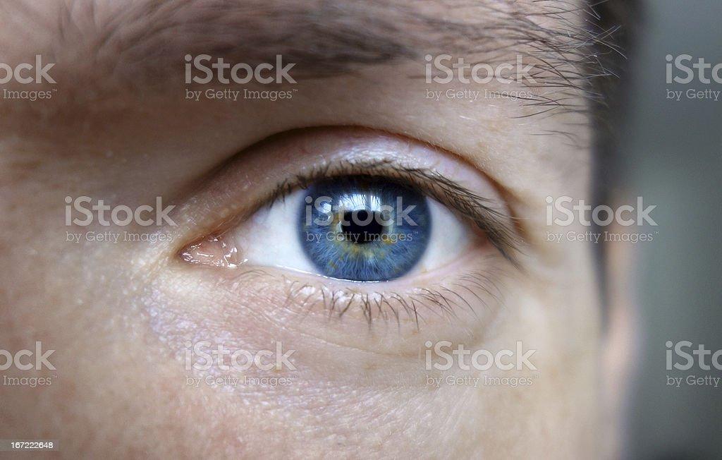 Fotografía De Ojos Azules De Un Hombre Y Más Banco De Imágenes De