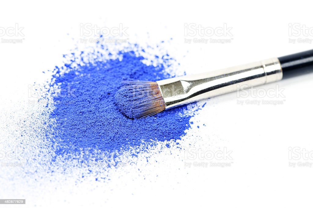 Blue Eyeshadow stock photo