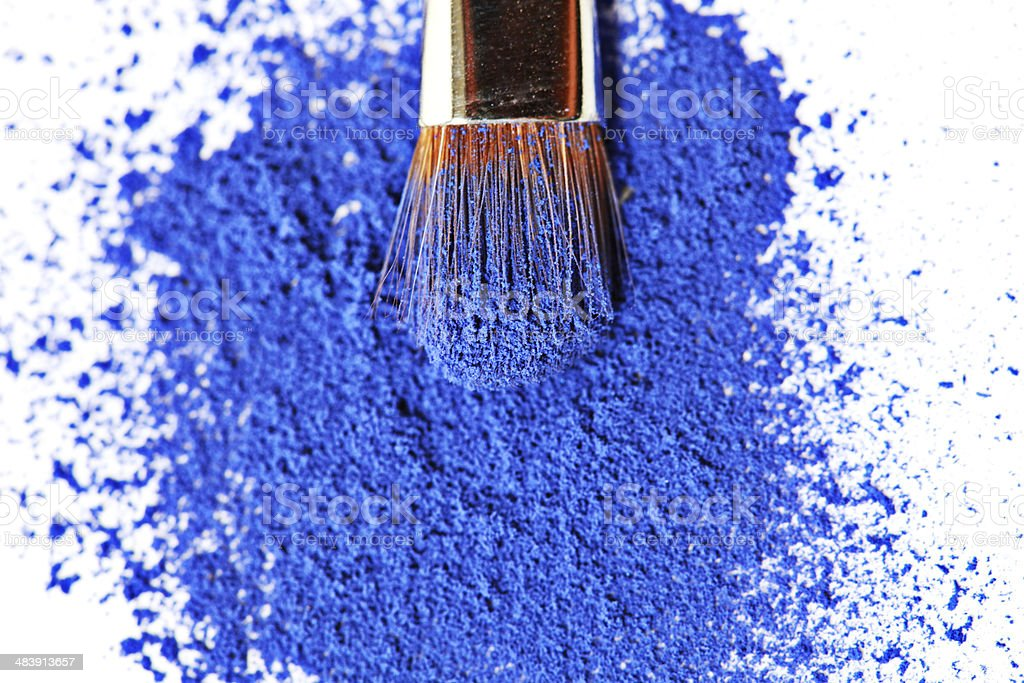 Blue Eyeshadow royalty-free stock photo